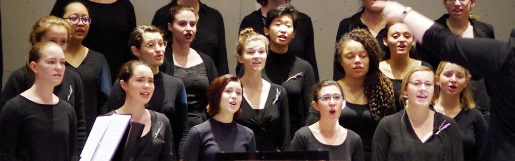 Mt. Holyoke College Glee Club led by Stephanie Council