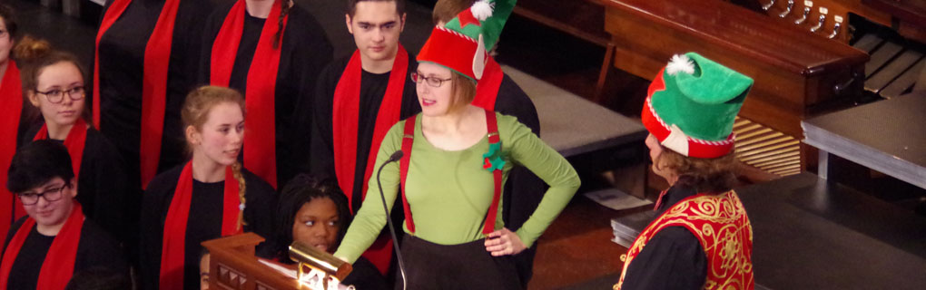 Christmas Elves at Chorus pro Musica Family Concert
